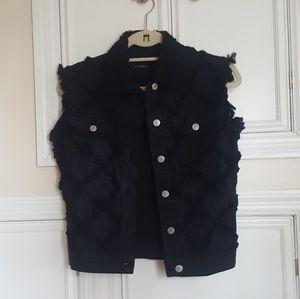 Isabel Marant black denim vest
